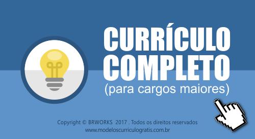 modelos de currículo grátis completo