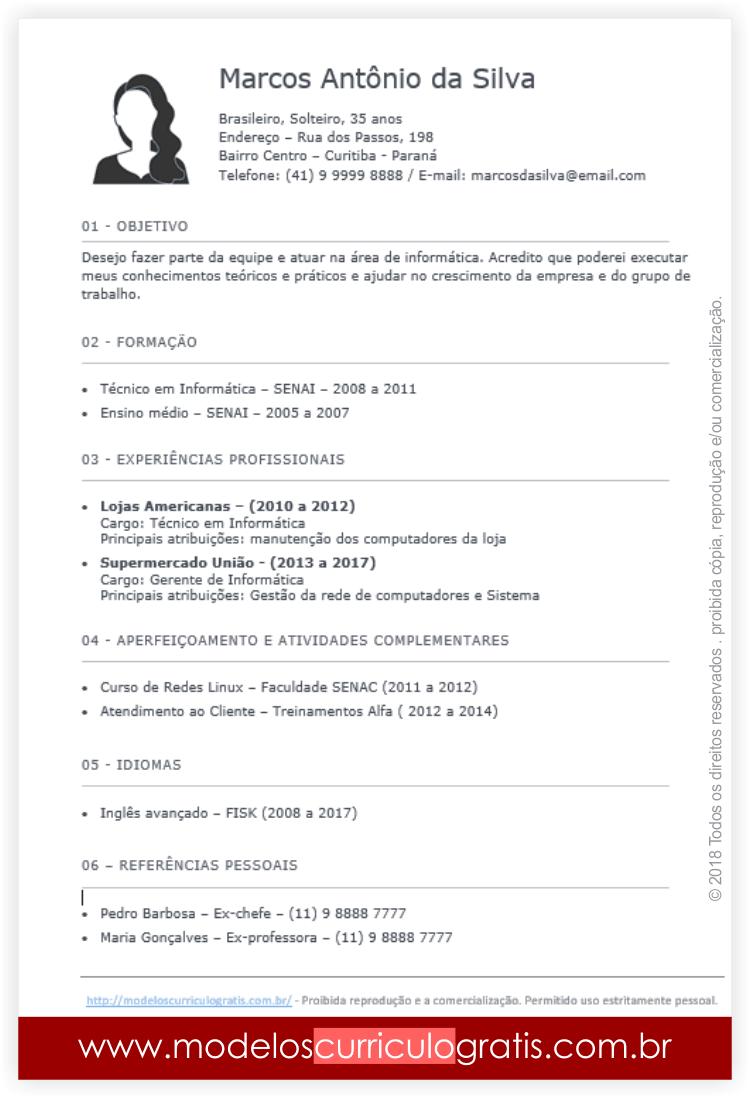 7 Modelos de Curriculum Vitae Prontos: Baixe, Preencha e Envie